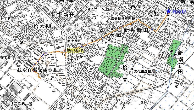 熊谷基地アクセス(平面図)♪