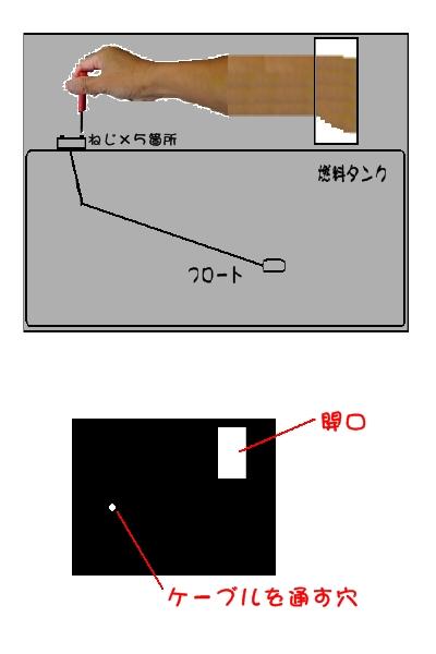 燃料計フロート取替イメージ図♪