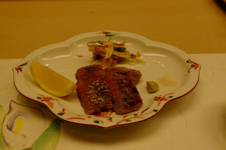 メイン料理@京都牛ステーキ♪